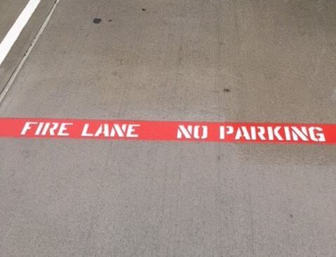 Hollywood, Florida Fire Lane Striping Company
